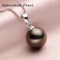 simple and all-matched black pearl pedant - shell beads pedant without chain fashion and elegant just as real pearl silver fixings