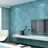 Wholesale Cheap Wholesale Wallpaper - New Arrival Modern simple plain non-woven wallpaper Decor Craft Paper four colors 0.53x9.5 Meters Cheap Sale