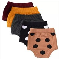 Wholesale Baby Knit Knitting Pants Leggings - Baby INS Pp Pants Infant Knitted Dot Shorts Kids Cartoon Briefs New Summer Pants Girls Bread Pants Wool Fashion Leggings Baby Clothes B2355