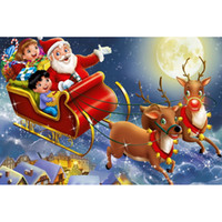 Wholesale Oil Painting Europe - Santa Claus Oil painting Full Drill DIY Mosaic Needlework Diamond Painting Embroidery Cross Stitch Craft Kit Wall Home Hanging Decor