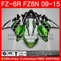 Wholesale Yamaha Fz - Body For YAMAHA FZ6N FZ6 R FZ-6N FZ6R 09 10 11 12 13 14 15 82NO6 FZ-6R FZ 6N FZ 6R Green white 2009 2010 2011 2012 2013 2014 2015 Fairing
