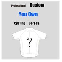 Wholesale Custom Cycling Clothing - 2017 Custom Short sleeve Cycling jersey+bib shorts set men cycling clothes kit hombre racing Mtb bike sportswear Quick Dry Ropa ciclismo