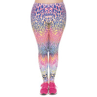 Wholesale Spot Tights - Girl Leggings Colored Spots 3D Graphic Print Lady Tight Capris Pants Women Colorful Pattern Casual Trousers Plus Size Fits L XL XXL (J45750)