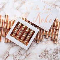 Wholesale Love Doll Sizes - In stock 4PCS SET Kylie IN LOVE WITH THE KOKO Liquid Lipstick Koko Kollection Doll Sugar Plum Bunny Baby Girl DHL free