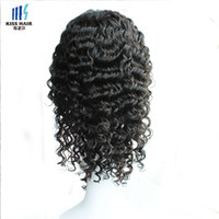Glueless Lace Front Perucas Brazilian Virgin Cabelo Humano Full Lace Perucas Curly para Mulheres Negras Deep Wave Afro Kinky Curly Short Lace Wigs