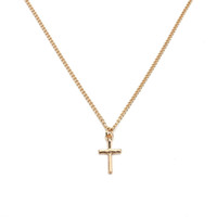 Wholesale fashion bijoux for sale - 2017 Fashion Bijoux Jewelry Gold Silver Cross Pendant Alloy Metal Thin Chain Choker Necklace For Women Girl As Gift Fe