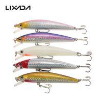 Wholesale Minnow Bass Lures - Lixada 5pcs 7cm 8.5cm 9cm Lifelike Fishing Hard Lures Minnow Crankbait Bass Artificial Lures Baits with Storage Box Y4465-1