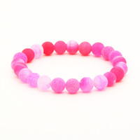 Wholesale good quality ring bracelet for sale - Mix Colors mm Good Quality Blue Red Green Weathering Dragon Veins Stone Beads Energy Elastic Bracelets