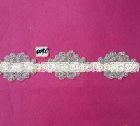 Wholesale Embellishments For Dresses - 10yard  lot Rhinestone applique iron on sash applique rhinestone crystal appliques patch embellishment for dress