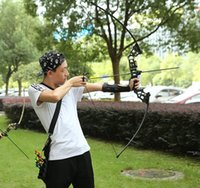Wholesale Hot selling new fishing bow high quality straight bow sports fitness outdoor shooting bow and arrows