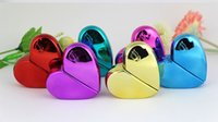 Wholesale online bottle - Online shopping 25ml empty glass spray perfume bottle wholesale crystal colorful cosmetics heart shaped glass perfume bottle case