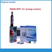Wholesale Mvp E Cig - Wholesale- Shisha Pen Original Itaste Mvp 2.0 Energy Kit E Cigarette Variable Voltage 2600mah Battery iClear 16B clearomizer innokin e cig
