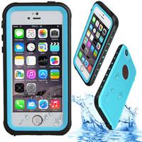 iphone yüzme davası toptan satış-Redpepper Su Geçirmez Kılıf Darbeye Dayanıklı Kir-dayanıklı Yüzme Sörf Kılıfları Kapak Için iPhone X 8 7 6 S Artı Samsung Not 8 S7 kenar S8 S9 Artı