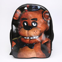 Wholesale FNAF Five Nights at Freddy s Daypack Backpacks Cosplay Fazbear Chica Bonnie Foxy School Backpack Shoulder bag Christmas Gift