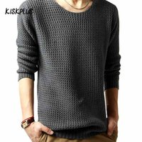 Wholesale Regular Taxi - Wholesale- KISKPLUS Fall male taxi fertilizer XL round neck pullover sweater large influx of fat clothes sweater #1570557