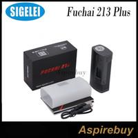 Wholesale Aluminum Battery Boxes - Sigelei Fuchai 213 Plus Mod 213W TC Box Mod Aluminum Alloy Construction Features TCR TFR Modes Requires 2 18650 Batteries 100% Original