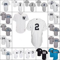Wholesale Wholesale S Baseball Jersey - New York Yankees baseball jersey shirt 2 Derek Jeter 24 Gary Sanchez 99 Aaron Judge 7 Mickey Mantle Babe Ruth 2017 All Star Baseball Jerseys