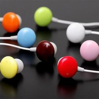 Wholesale Chocolate Earphones - Wholesale- Sweet Chocolate Doug Earphone Earbuds Headphone In-ear Headset Candy Earphone for MP3 MP4 Mobile Phone Smartphone Mix Colors 4659