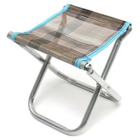 Wholesale Beach Chair Accessories - Wholesale- Portable Folding Aluminum alloy Chair Outdoor Stool Garden Seat For Fishing Camping Picnic BBQ Beach Fishing Tackle accessories