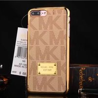 caso ouro s5 venda por atacado-Para s8 caso casos de luxo galvanoplastia de ouro rígido PC m galvanizar cobertura para iphone 5 6 s 7 7 plus Samung S5 S6 S7 borda NOTA 3 4 5 s8