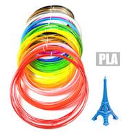 Wholesale Pla Plastic 3d Printer - 20 Colors 3D Filament PLA 1.75mm Printer Filament Materials 10M For 3D Printing Pen 3D Printer