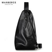 pack saddle leather - MANBERCE Men Shoulder Bag Cowhide Messenger Bag Brand Men s Crossbody Beach Bags Travel Casual Riding Multifunctional Chest Pack