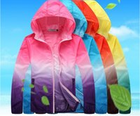 Wholesale men s large jackets - Ultralight jacket Color Windbreaker Coat UVproof Clothing Female sunscreen Male Large Size Sunscreen jacket Windbreaker free shipping