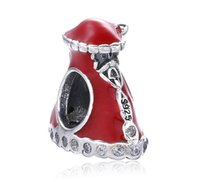 Wholesale Santa Bead Cap - 925 Sterling Silver Christmas Santa Series Hat Cap Charm Bead Fit for Pandora European Pandora Style charm Bracelet Designer Gift Jewelry