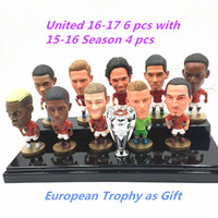 Wholesale Kodoto Soccerwe United Season Football Star Pogba Ibrahimovic De gea Doll Premier League Fans Collections Red Color Inches
