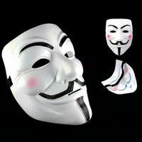 yetişkin adam fawkes maskesi toptan satış-Parti Maskeleri V Vendetta Maskeleri Anonim Guy Fawkes Fantezi Elbise Yetişkin Kostüm Aksesuar Cadılar Bayramı Süslemeleri Parti Cosplay Maskeleri