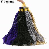 Hot selling Water Wave Crochet Braids Freetress Crochet Synthetic Kinky Curly Hair Crotchet Bulk Braiding Hair Extensions Y demand