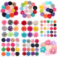 Wholesale artificial flowers chiffon pearl resale online - All Kinds of Artificial Handmade Flowers Fabric Flower with Pearl Accessories Children Hair Accessories Baby Headbands Silk Chiffon Flower