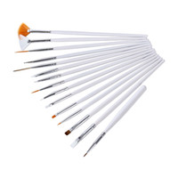 Wholesale 15 Set Nail Art Brush Paint Dot Draw Pen Brush for UV Gel Diy Decoration tools