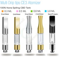 Wholesale Wholesale New E Vapor - New CE3 BUD Touch 510 Cartridges Metal plastic drip tips WAX Thick Oil Vaporizer Atomizers O Pen vapor Mini cartomizers e cigs vape Tank DHL