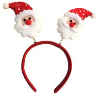 Wholesale Children Costume Character - Christmas Headbands with Spring Snowman Santa Claus Elk Bear Headdress for Party Costume Performance Child Kids free shipping in stock