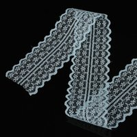 Wholesale Bilateral Lace - 45mm width Cheap Lace Fabric Trim Ribbon 10yard lot DIY Garment Accessories embroidered lace ribbon Bilateral