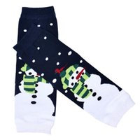 """Wholesale Knit Boots For Kids - Wholesale- Stylish Fashion Christmas Kid""""s Knitted Leg Warmers Boot Cover Girl Kneepad Socks for children"""