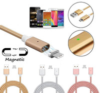 Wholesale magnetic adapters - High Speed Braid Magnetic Cable Micro USB Charging Cable Data Sync Charger Adapter For Android Phone Type c Smartphone Charging Cable