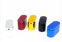 caixa de mini cachimbos venda por atacado-Colorido Mini Colher Cachimbos Pequeno Metal Queimador De Tubos De Mão para Ervas Secas Caixa Mágica Tubos de Tabaco Frete Grátis