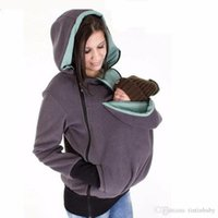 Wholesale Pregnancy Coat - Brand New Winter Maternity Hoodie Breastfeeding Clothes 3 in 1 Babywearing Coats Maternity Pregnancy Multifunctional Kangaroo Clothing