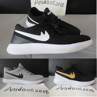 Wholesale High Cut Black Tennis Shoes - 2017 Lunarepic Fly v2 Shoes Low Cut Free Run Running Shoes Women And Mens High Quality Lunar Epic Free Runs Sports Trainers Shoes Size 36-44