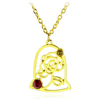Wholesale beauty beast necklace - Beauty And Beast Rose Necklace Alloy Pendant Women Stainless Steel Love Necklace Stainless Steel Jewelry C S H 013