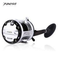 Wholesale Position Design - YUMOSHI 12+1 Ball Bearings Cast Drum Fishing Reel CNC handle design aluminum alloy spool Trolling suitable any fishing Position +B
