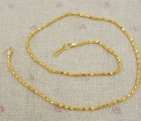 Wholesale Gold Plated Safety Chain - 50 pcs lot Plating Vietnam sand Gold Necklaces Hollow chains Safety without stimulation Shining Imitation gold Necklaces Length 42 cm*2 mm