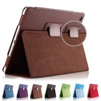 Para Ipad Mini 1 2 3 Matte Litchi Soft PU Artificial Leather Case Magnetic Sleep / Wake UP Flip Cover caso Retina
