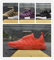 Wholesale Hot Sale Preferred - Hot Sale NMD R1 Firm Ground Men Women Primeknit Running Shoes Triple Black White 3.0 High Quality Prefer NMDs Runner Sports Shoes