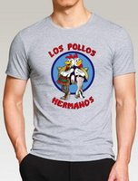Wholesale Los Pollos Hermanos T Shirt - Breaking Bad LOS POLLOS Hermanos Men T Shirt Funny Chicken Brothers streetwear Men T Shirts Tops brand clothing hipster