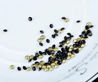 diamantes de imitación de transferencia al por mayor-Granos de cristal sueltos Negro azabache en DMC Prendas de diamantes de imitación Cristal de transferencia de cuentas de cristal para la prenda DHL Regalo de Navidad gratis