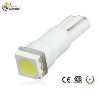 Wholesale Led Lamp 37 74 - 10 Pcs White blue red yellow 5050 1-SMD Indicator Dashboard LED Bulbs Light Lamp T5 74 37 73 257