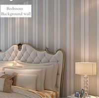 Wholesale Vertical Striped Wallpaper - Cozy Bedroom Non-woven Wallpapers 5 colors Striped Wallpaper For Walls Modern Feature Vertical Striped Wallpaper Roll Home Decor